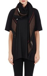 Givenchy Women's Rottweiler Graphic Wool Voile Shawl Black Ivory Black Ivory
