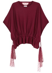 Red Valentino Burgundy Cashmere And Silk Jumper