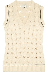 Topshop Unique Ixworth Cable Knit Cotton Blend Tank