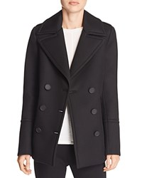 Elie Tahari Whitney Wool Pea Coat Black