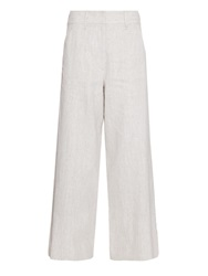Maison Martin Margiela Coated Linen Wide Leg Trousers