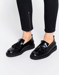 Fred Perry X George Cox Tassle Leather Loafers Black