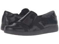 Rockport Devona Demsa Black Shiny Leather Women's Slip On Shoes