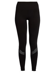 Alala Seamless Mesh Panel Performance Leggings Black