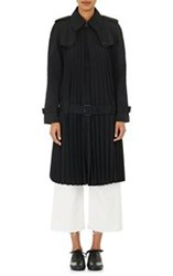 Junya Watanabe Comme Des Garcons Accordion Pleated Trench Coat Black S