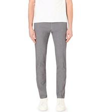 Hugo Boss Tapered Woven Trousers Charcoal