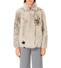 Whistles Helvin Shearling Jacket Multi Coloured