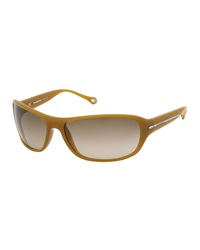 Ermenegildo Zegna Gradient Plastic Sunglasses Brown Dark Yellow