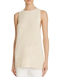 Vince Waffle Stitch Tunic Top Off White