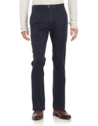 Brooks Brothers Cotton Blend Straight Leg Pants Navy