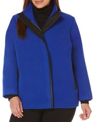 Rafaella Plus Plus Mockneck Jacket Blue