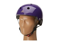 Triple Eight Brainsaver Dual Certified Helmet With Eps Liner Purple Gloss Athletic Sports Equipment