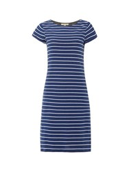 White Stuff Stripe To Stripe Jersey Dress Denim