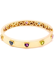 Kdia 18Kt Yellow Gold Multi Colored Heart Bracelet