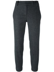 Brunello Cucinelli Glen Plaid Trousers Grey