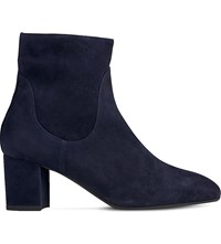 Lk Bennett Simi Zip Up Ankle Boots Blu Navy