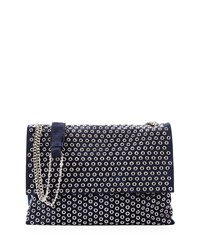 Lanvin Medium Sugar Eyelet Studded Shoulder Bag Dark Blue