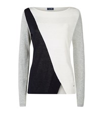 Armani Jeans Colour Block Sweater Female Ivory