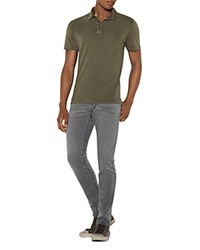 John Varvatos Star Usa Heathered Peace Slim Fit Polo Shirt Split Pea