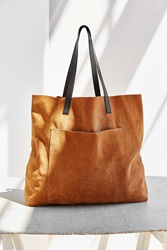Bdg Suede Pocket Tote Bag Brown