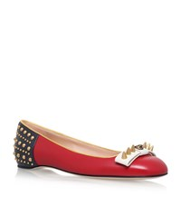 Gucci Lexi Stud Ballet Pumps Female Red