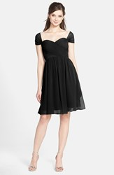 Women's Jenny Yoo 'Riley' Convertible Chiffon Dress Black