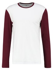 Your Turn Long Sleeved Top White_Bordeaux