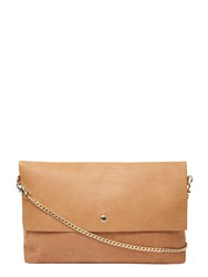 Dorothy Perkins Faux Suede Foldover Clutch Bag White