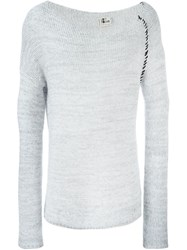 Lost And Found Stitch Detail Sweater White