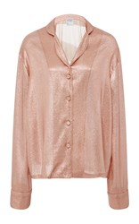 Cynthia Rowley Lame Night Shirt Pink