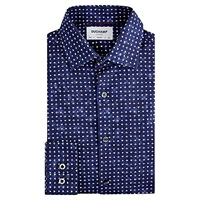 Duchamp Playing Card Slim Fit Shirt Navy