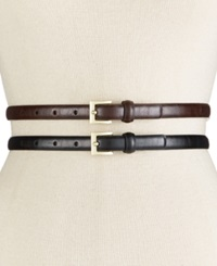 Style And Co. Glaze 2 For 1 Belt Only At Macy's Black Brown