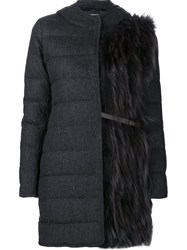 Fabiana Filippi Padded Hooded Coat Grey