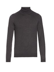 Maison Martin Margiela Roll Neck Long Sleeved Wool Sweater Grey