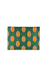 Victoria Beckham African Print Nappa Large Simple Pouch Multicolor