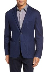 Colombo Men's Cashmere And Silk Knit Blazer Navy