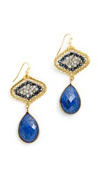 Nakamol Aspen Earrings Dark Lapis Mix