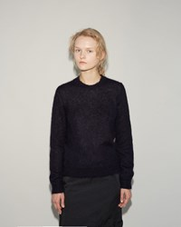 Comme Des Garcons Mohair Knit Pullover Navy