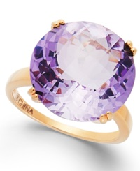 Victoria Townsend Pink Amethyst Cocktail Ring In 18K Gold Over Sterling Silver 10 1 2 Ct. T.W. Rose Gold Over Sterling Silver