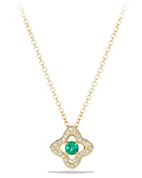 David Yurman 5Mm Venetian Quatrefoil Emerald Necklace David Yurman