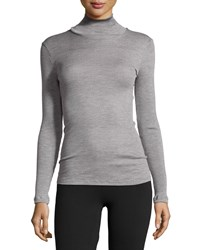 Hanro Leontine Long Sleeve Turtleneck Top Silver