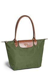 Longchamp 'Small Le Pliage' Shoulder Bag Green Khaki