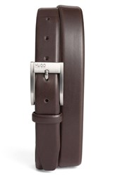 Boss Men's Big And Tall 'Brandon' Leather Belt Dark Brown