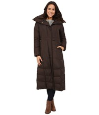 Cole Haan Down Coat With Oversized Collar Chocolate Women's Coat Brown