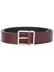 Paul Smith Gold Tone Buckle Belt Brown