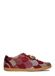 Gucci Lurex Jacquard Gg Sneakers Red