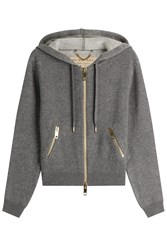 Burberry Brit Cashmere Blend Hoody With Cotton Grey