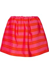Delpozo Striped Jacquard Mini Skirt Pink