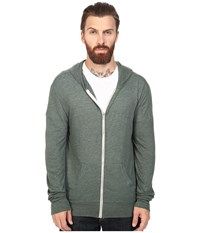 Alternative Apparel L S Zip Hoodie Eco True Dusty Pine Men's Sweatshirt Green