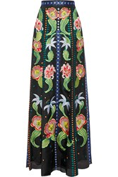 Temperley London Carmelina Embroidered Silk Organza Maxi Skirt